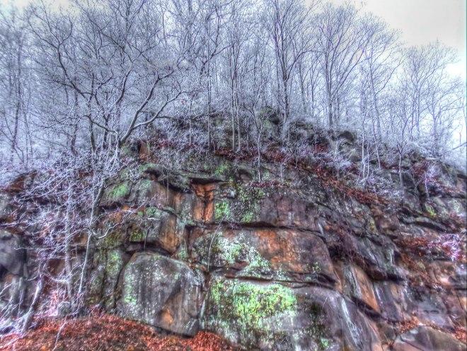 Great Smokies Snow Rocks